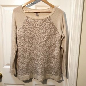 Banana Republic beige pink cheetah animal Sweater